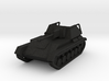 Vehicle- SU-76M Self-Propelled Gun (1/87th) 3d printed