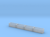 N scale 1/160 Tie or Dirt Container Flatcar-Set  3d printed