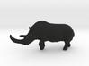 Woolly rhinoceros 3d printed