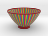 DRAW bowl - multicolor wedges 3d printed