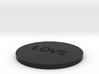 by kelecrea, engraved:   LOVE 3d printed