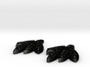 Blackhawks Earrings 3d printed