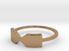 Thin Bowtie ring 3d printed