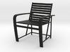 1:24 Metal Beach Chair (Not Full Scale) 3d printed