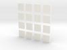 DIY 2048 Coaster Set (White Pieces) 3d printed