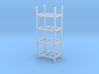 Steel Storage Racks 1/87(HO Scale) - 4 High 3d printed