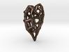 Doublesided Skeleton Heart 3d printed