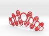 Spirals & Circles Necklace 3d printed