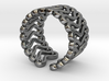 Curly ring 3d printed