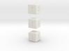 6-sided die (d6) x3 3d printed