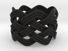 Turk's Head Knot Ring 5 Part X 7 Bight - Size 7.5 3d printed