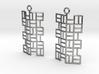 Tatami Earrings 3d printed