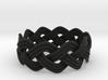 Turk's Head Knot Ring 3 Part X 10 Bight - Size 10 3d printed