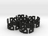 Islamic Napkin Rings - Set of Four 3d printed