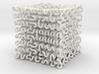 Round 3D Hilbert curve (4th order) 3d printed