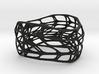 Hollow Panel Bracelet Silver (sz M/L) 3d printed