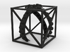 Cube W Ribbons 3IN NoText 3d printed