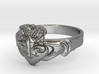 NOLA Claddagh, Ring Size 5 3d printed