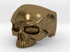 WR Ring HalfSkull - Size 3.5 3d printed