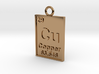 Copper Periodic Table Pendant 3d printed