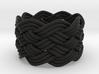 Turk's Head Knot Ring 6 Part X 8 Bight - Size 6.25 3d printed