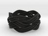 Turk's Head Knot Ring 4 Part X 5 Bight - Size 7 3d printed