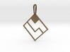 Tetromino Pendant - Diamond 3d printed