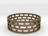Brickwork Ring 3d printed