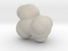 Acetic acid molecule (x40,000,000, 1A = 4mm) 3d printed