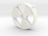 Radioactive Trefoil Earrings 3d printed
