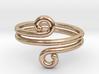 Swirl Design Ring 3d printed