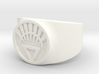 White Life Ver 2 GL Ring (Sz's 5-15) 3d printed