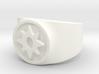 Love Star Sapphire GL Ring (Sz's 5-15) 3d printed