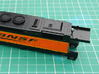 HO scale 1:87 CSX SD40-3 Wabtec Cab 3d printed Position of cut on main body.