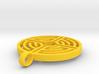 Labyrinth Pendant 3d printed