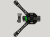 DJI F450 Low Profile Gimbal Mount 3d printed Top view from 3D Design Software