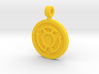 Yellow Fear Pendant 3d printed