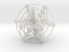 Multi-shell Metatrons Hypercube Atomic Grid Vector 3d printed