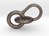 Interlocking Hoops Keychain 3d printed