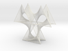 Wired Three Petals Straight Line Curves  3d printed