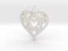 Mom love pendant 1.5 inch 3d printed
