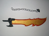 Action Figure Weapon: Jagged Sword 3d printed Jagged sword in strong & flexible plastic (hand-painted)