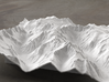 8'' Picket Range, Washington, USA 3d printed Rendering of model from the East, with McMillan Creek on the left