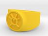 Orange Avarice GL Ring Sz 14 3d printed