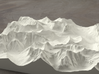 8'' Glacier National Park, Montana, USA, Sandstone 3d printed Rendering of model, looking East over the Going-to-the-Sun Road