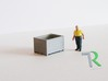 H0 1:87 Container-Box 3d printed