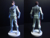Spike homage Space Man 6.8inch Full Color Statue 3d printed Quarter and Back view of 6.8 inch Spike statue printed in Full Color Sandstone