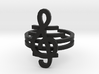 G clef string ring size 8 U.S. 3d printed