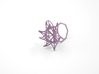 Aster Ring (Small) Size 7 3d printed Wisteria Nylon (Custom Dyed Color)
