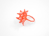 Aster Ring (Small) Size 6 3d printed Coral Nylon (Custom Dyed Color)